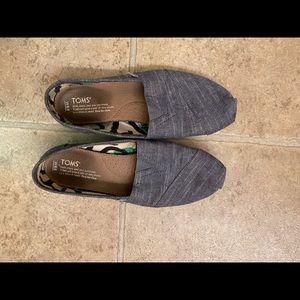 Work toms blue shoes